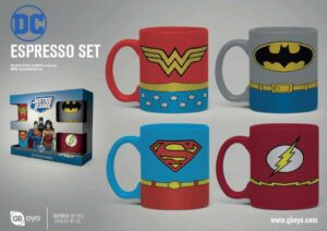 DC Comics Pack De 4 Tazas Espresso Uniforms