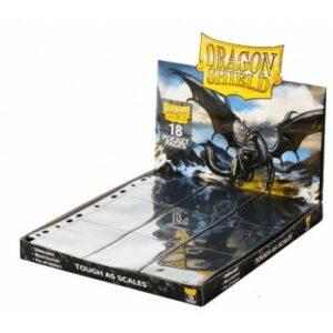 Dragon Shield: Páginas De 18 Bolsillos Negras (50 Páginas)