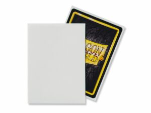 Dragon Shield: Standard Sleeves – Matte White (100 Sleeves)