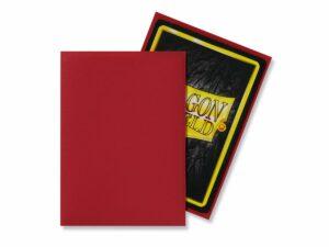 Dragon Shield: Standard Sleeves – Matte Red (100 Sleeves)