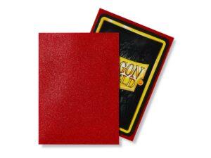Dragon Shield: Standard Sleeves Matte Ruby (100 Sleeves)