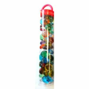 Chessex Gaming Glass Stones In Tube – Assorted Crystal (40)