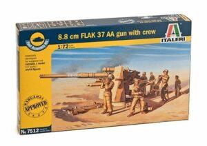 1:72 Italeri: 8.8 CM FLAK 37 AA GUN With Crew (2 FAST ASS) (