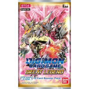 Digimon Card Game: Great Legend Booster BT04 – (Ingles)