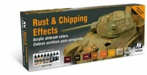 Vallejo Model Air: Rust And Chipping Effects 8 Colours 71186