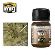 BROWN WASH FOR GERMAN DARK YELLOW (A.MIG-1000)