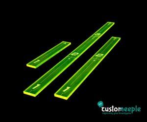 Star Wars X-Wing: Plantillas De Disparo (3) (Verde Fluor)