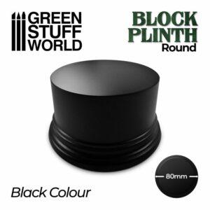 Pedestal Redondo 8cm – Negro