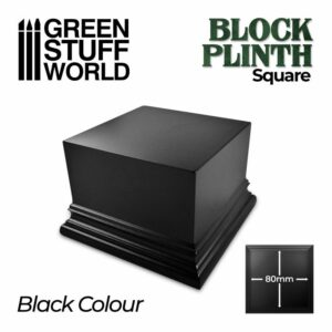 Pedestal Cuadrado 8×8 Cm – Negro