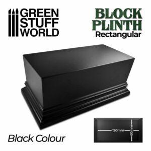 Pedestal Rectangular 12x6cm – Negro