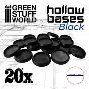 Peanas De Plástico Negro Con HUECO
