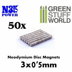 Imanes Neodimio 3×0'5mm – 50 Unidades (N35)