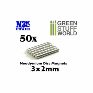 Imanes Neodimio 3x2mm – 50 Unidades (N35)