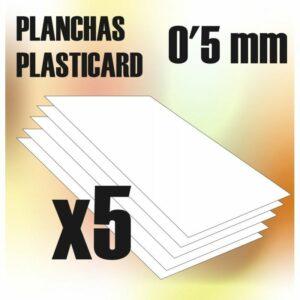Plancha Plasticard 0'5 Mm – COMBOx5 Planchas