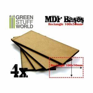 Peanas DM – Rectangulares 100x50mm