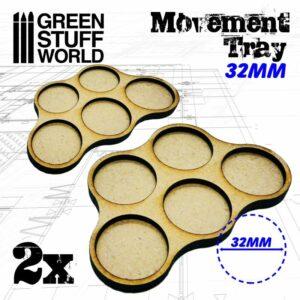 Bandejas De Movimiento DM 32mm X5 – Hostigador