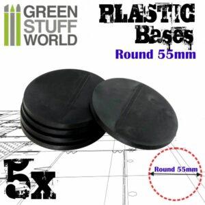 Peanas De Plástico – Redondas 55mm NEGRO