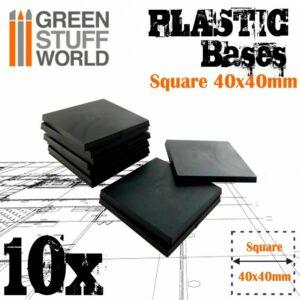 Peanas De Plástico – Cuadradas 40×40 Mm