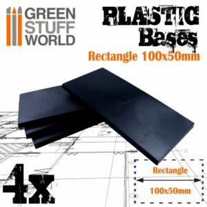 Peanas De Plástico – Rectangulares 100x50mm