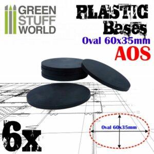 Peanas De Plástico – Ovaladas 60x35mm AOS