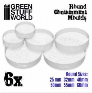6x Moldes Contencion Blanco Translúcido Para Peanas Redondas