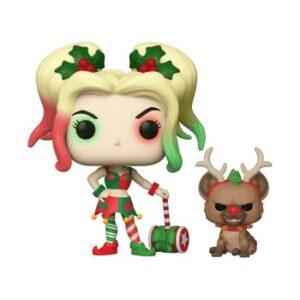 POP Heroes: DC Holiday -Harley Quinn W/Helper
