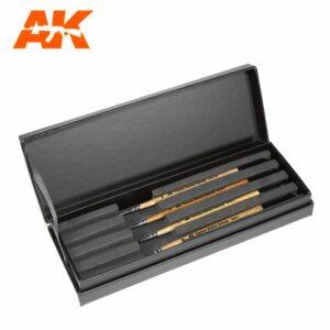 Premium AK Siberian Kolinsky 4 Brush Case (AKSK-10)