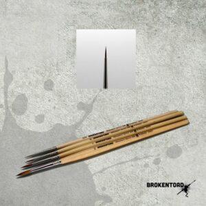 Broken Toad – Miniature Series MK3 Brush – Size 3/0